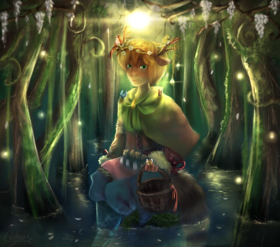 Forest Deity by Elidyss
