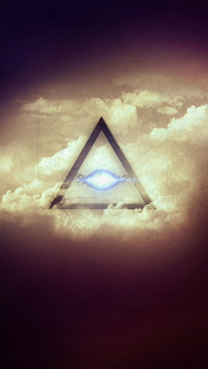 All Seeing Eye Phone Wallpaper Background By XxDannehxX