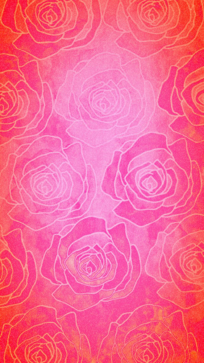 Pink Rose phone wallpaper/background  by XxDannehxX