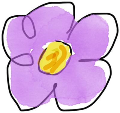 Purple Flower by XxDannehxX