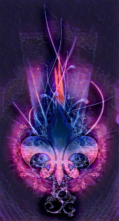 Fleur De Lis Nebula  by XxDannehxX