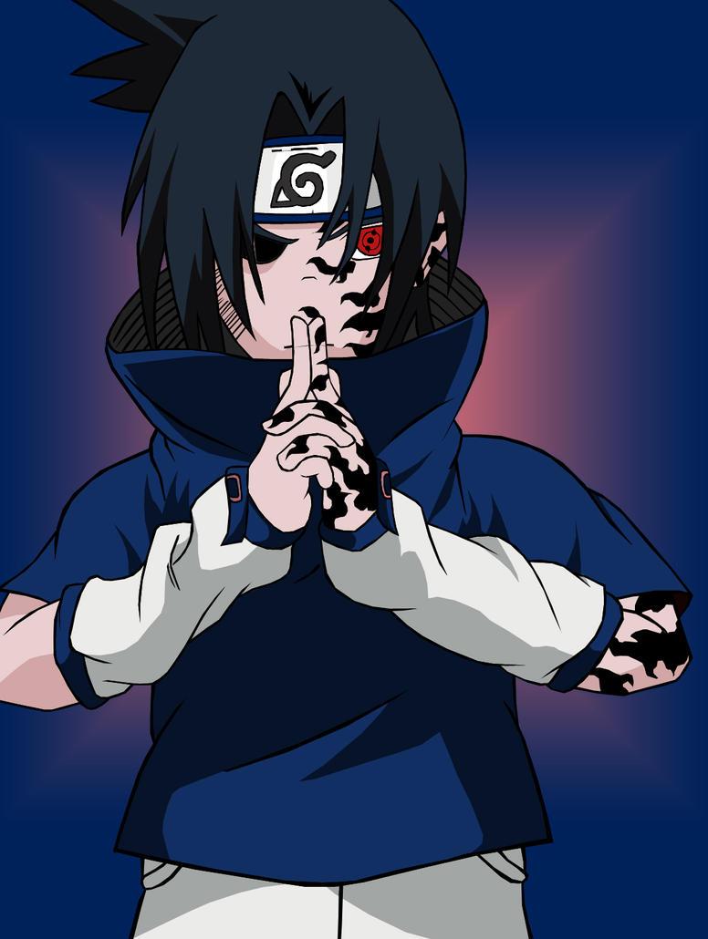 Sasuke demon color by qu1mp3r on deviantart - Sasuke uchiwa demon ...