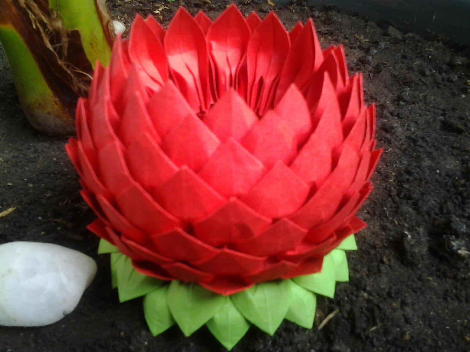 Цветок лотоса своими руками из салфеток