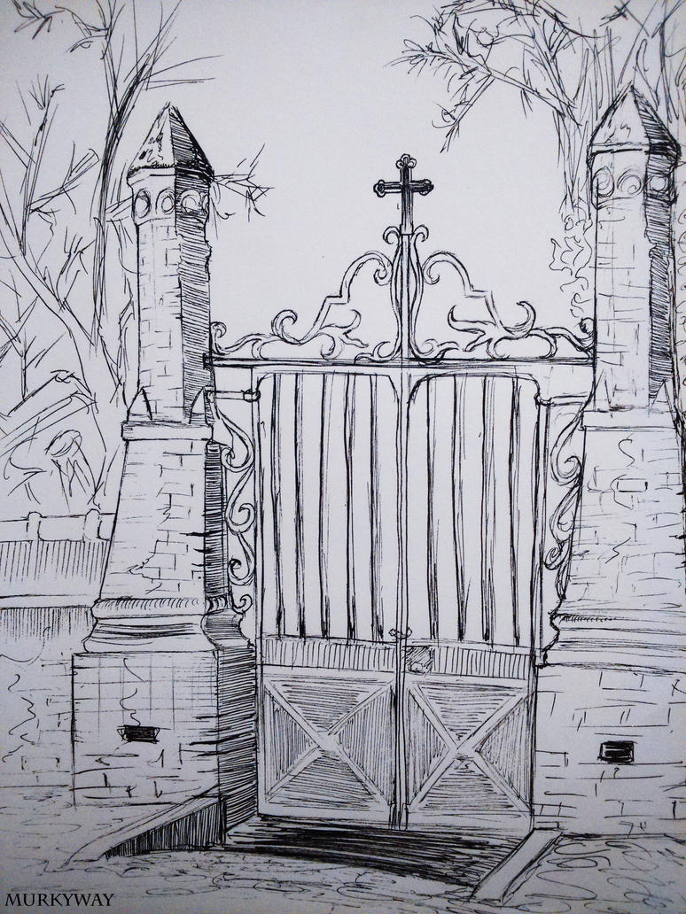 Cemetery Gates (Speed Drawing) by Laura31470