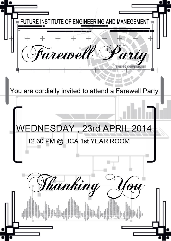 Farewell Party Invitation Card By Aura Blade4 On Deviantart
