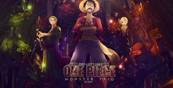 One Piece:Monster Trio by Aura-Blade4