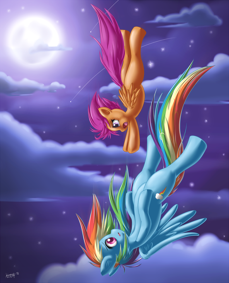 Rainbow Dash And Scootaloo Human Scootaloo And Rainbow Dash by