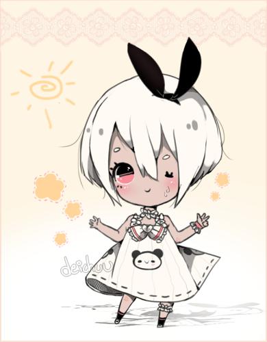 Adoptable #8: Summer Panda Pon (OPEN) by deichuu