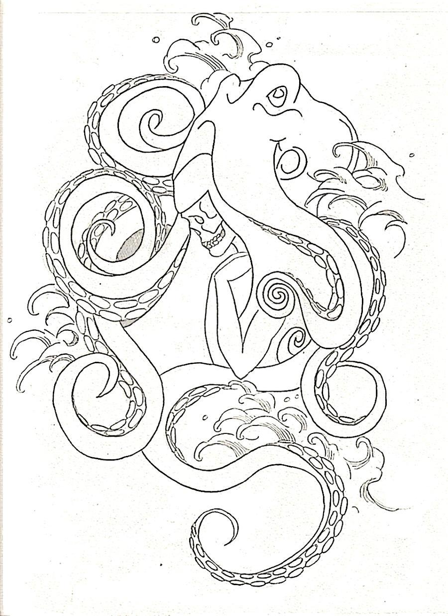 octopus by virtuedestroyedx on deviantart. Black Bedroom Furniture Sets. Home Design Ideas