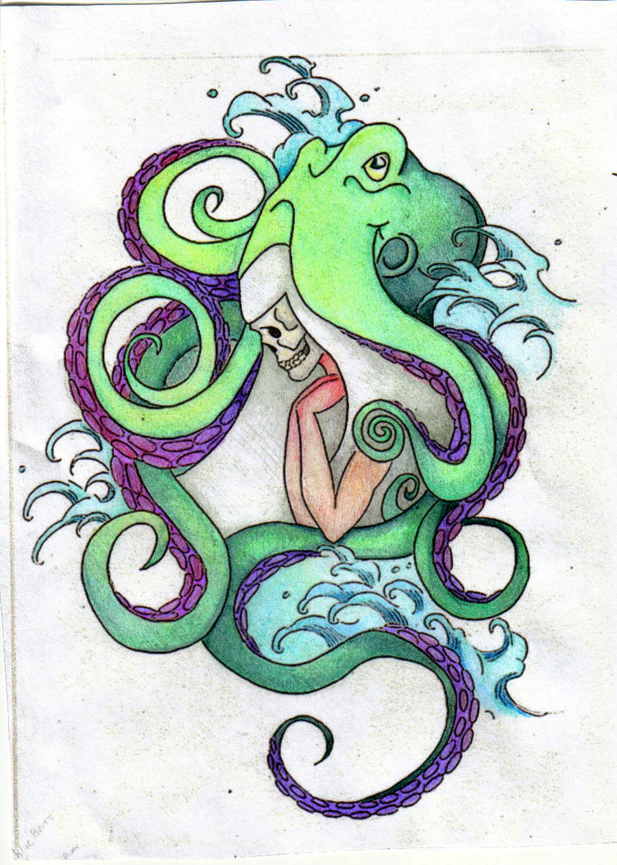 Octopus color by virtuedestroyedx on deviantart for Colorful octopus painting