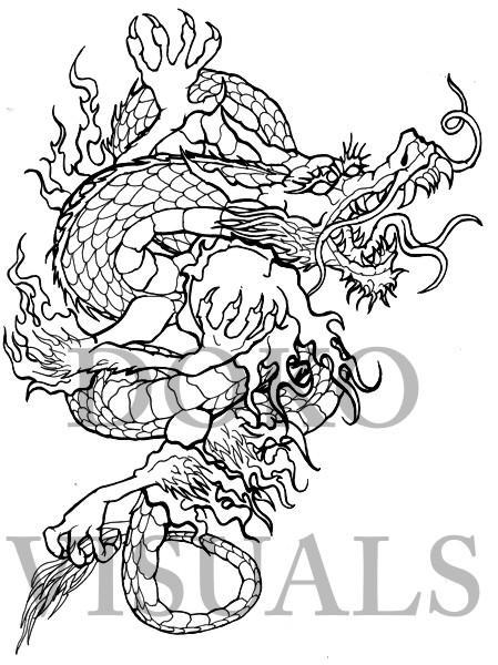 japanese dragon tattoo design by ojibway doko on deviantart. Black Bedroom Furniture Sets. Home Design Ideas