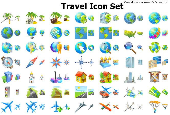 Travel Icon Set by alexwhite2
