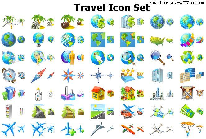 Travel Icon Set by alexwhite2