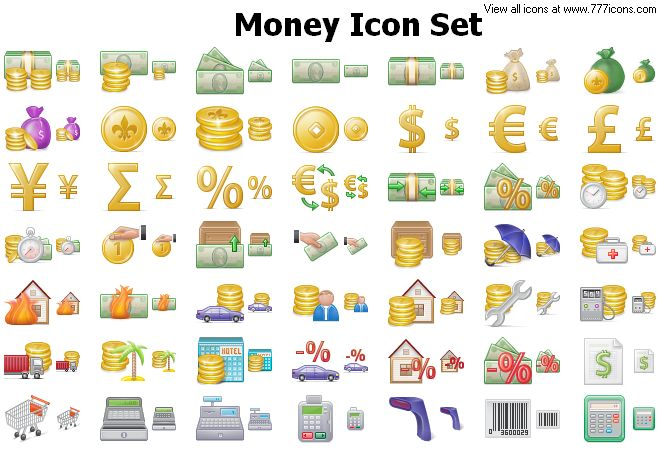 Money Icon Set by alexwhite2