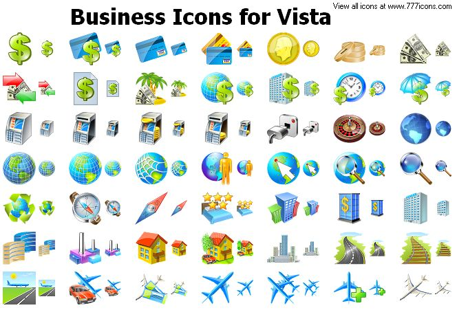 Business Icons for Vista by alexwhite2