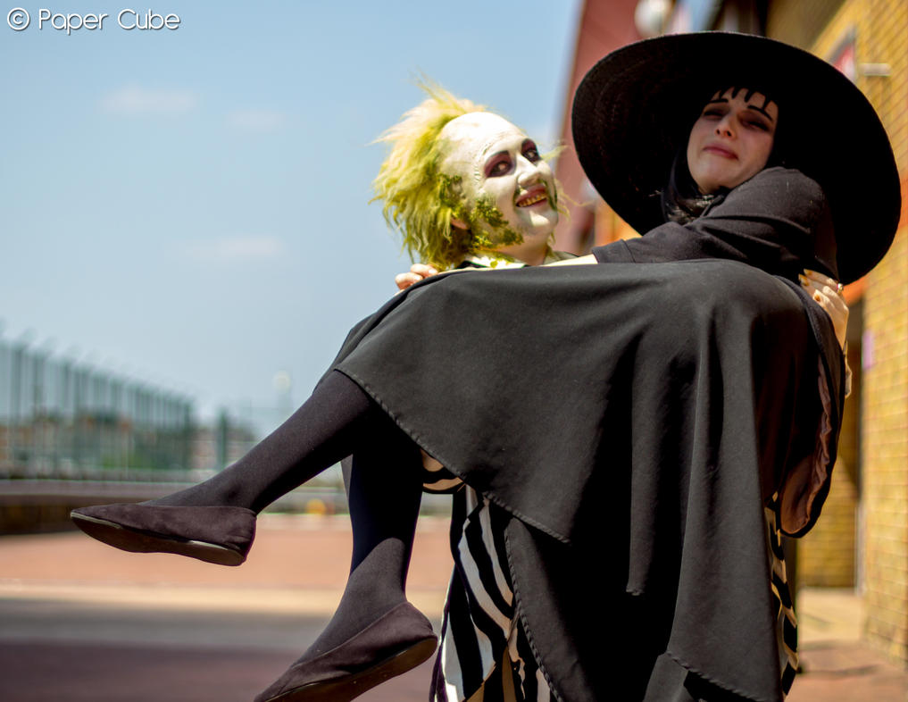 Beetlejuice and Lydia Deetz by Paper-Cube on DeviantArt