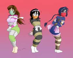 Commission: Sango+Rukia+Misao by jam-orbital