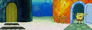 Panorama of SpongeBob and Squidward's Houses