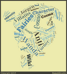 Anti-Cosmo Word Cloud Typography