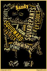 SpongeBob SquarePants Word Cloud Typography
