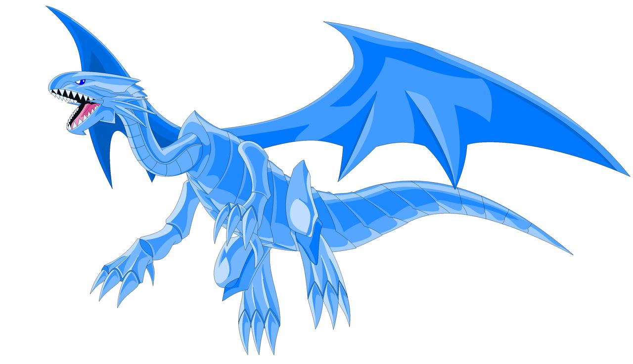 blue eyes white dragon by darklordjadow on deviantart