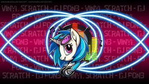 Vinyl Scratch Badge Wallpaper
