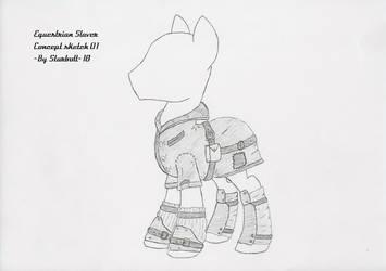 FO:E Slaver armor concept 1 by Starbolt-81