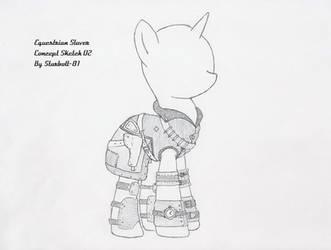 FO:E Slaver armor concept 2 by Starbolt-81