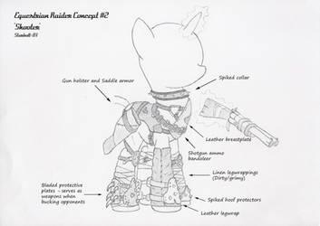 FO:E raider armor concept 'shooter' by Starbolt-81