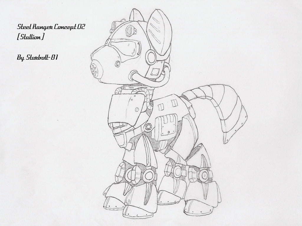 FO:E Steel Ranger power armor concept by Starbolt-81