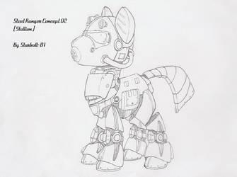 FO:E Steel Ranger power armor concept by Starbolt-81