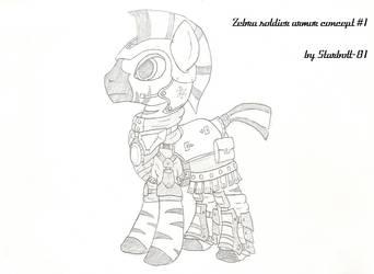 FO:E Zebra Legionnaire armor concept by Starbolt-81