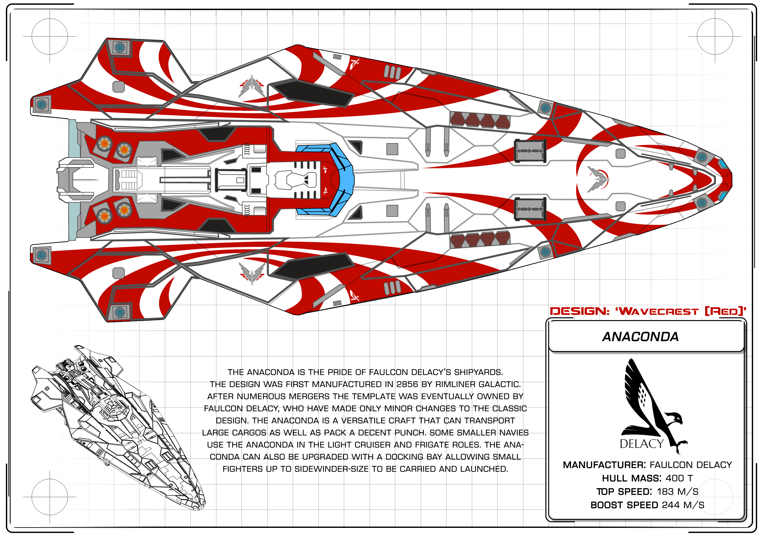 Elite Dangerous Design Comp Anaconda 39 Wavecrest 39 By