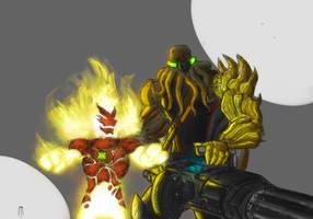 Vilgax and HeatBlast