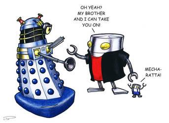Dalek vs. Mechazawa by Captain-Galant