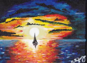 sunset by chamsky11