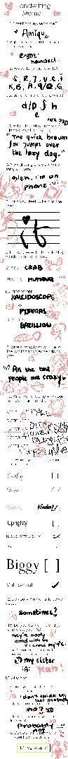[MEME] handwriting ho- by P-inko