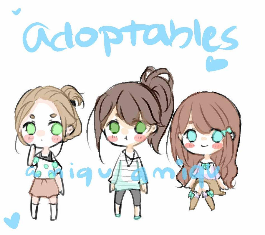 [ADPTS] Brunettes in blue greens  by P-inko
