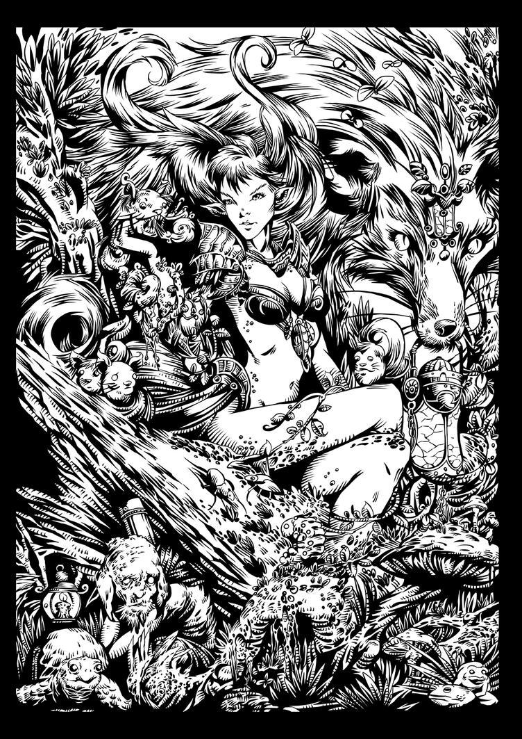 Fox Gaurdian - Inks by Korey Barton by koreybarton