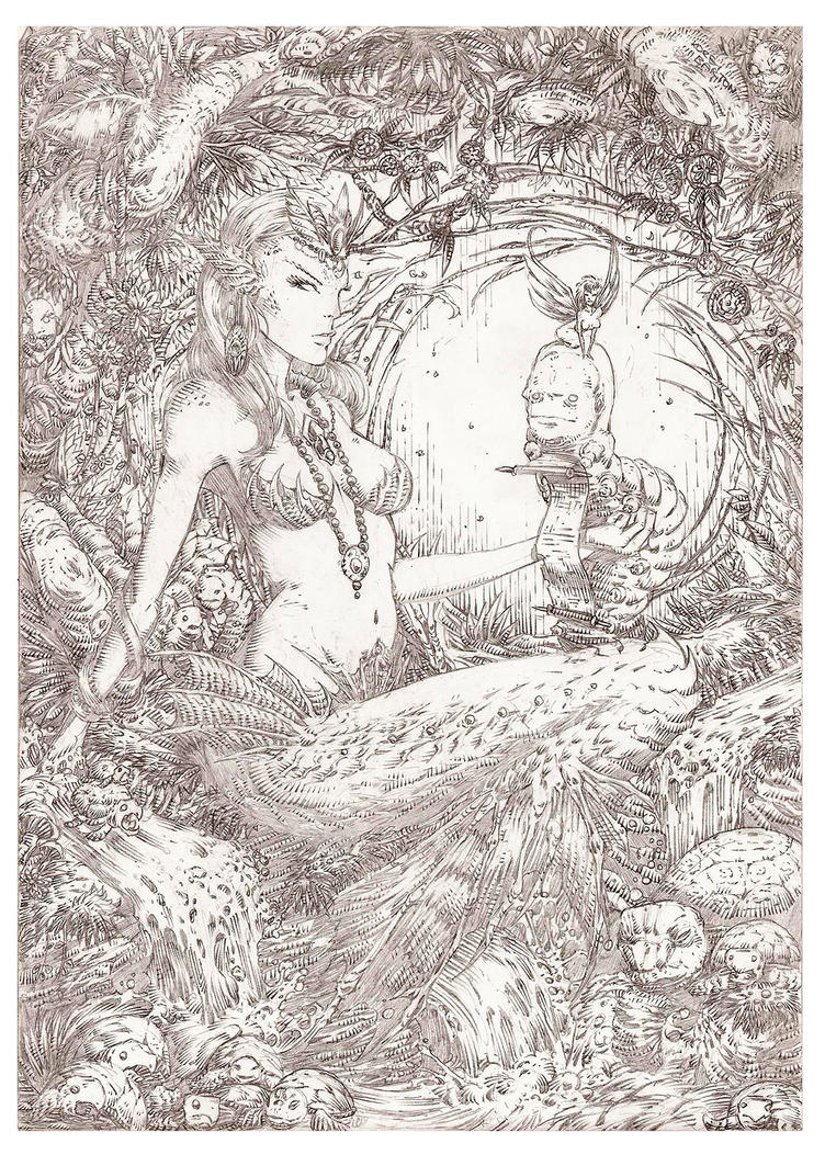 Sweet Siren Pencils by Korey Barton by koreybarton