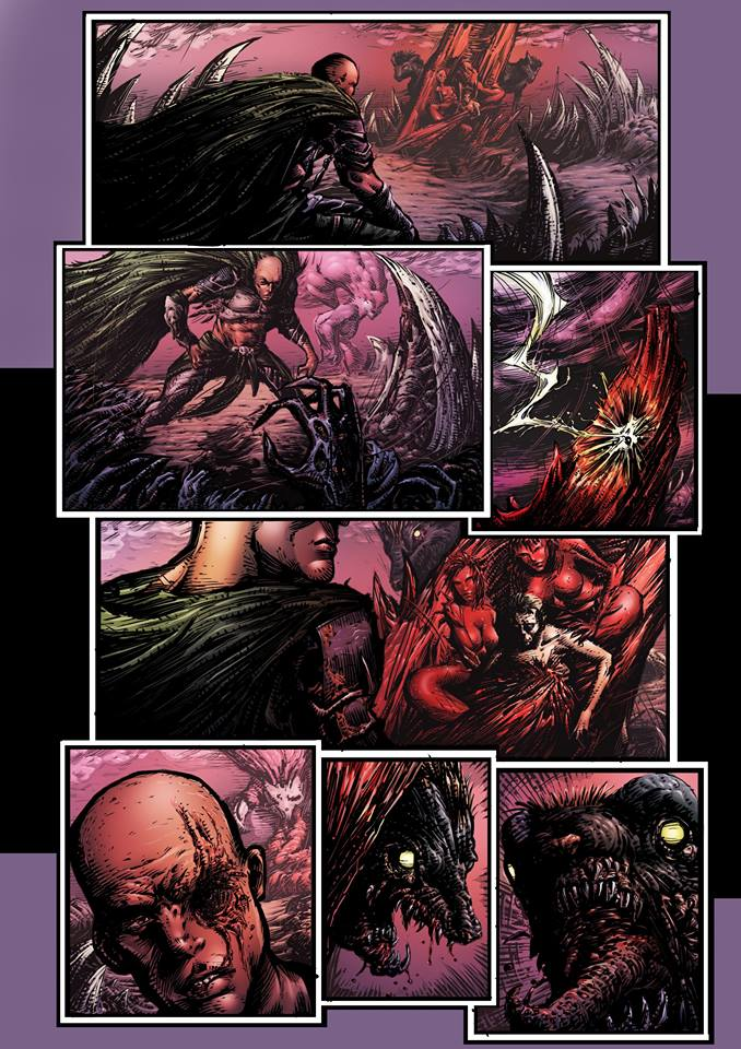 Comic page Colour's by koreybarton