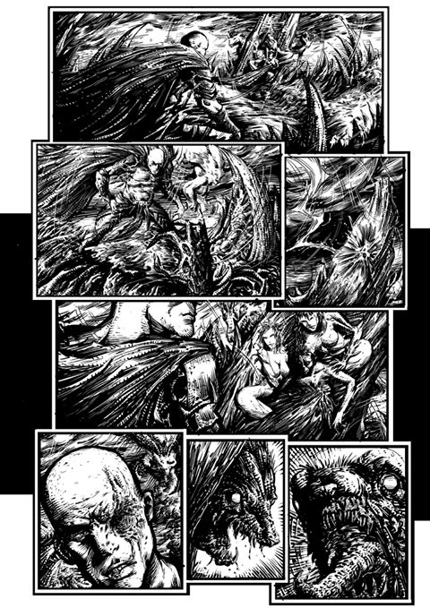 Comic page Inks by koreybarton