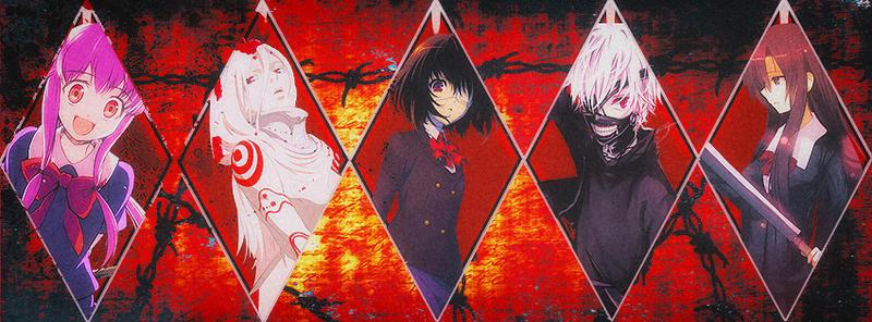 Portada facebook mix anime semi gore gore by lordcorvoart for Imagenes de anime gore