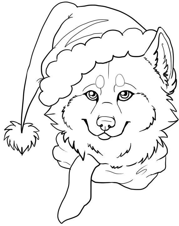 christmas wolf coloring pages | Coloring Anime Wolf Group Coloring Pages