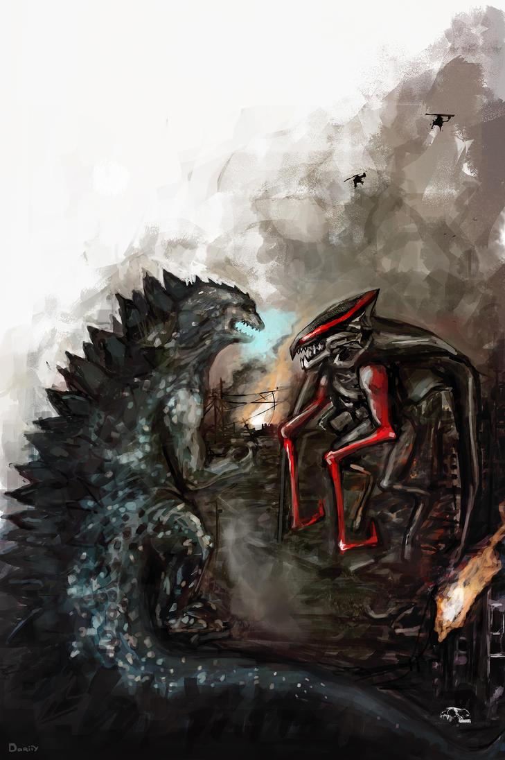 Godzilla vs M.U.T.O. by dariiy on DeviantArt