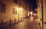 .Prague at night.