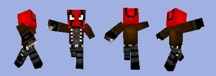 Minecraft: Red Hood Skin by DeltaVT