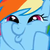 Rainbow Dash WUBS WOO Icon by LUVKitty13
