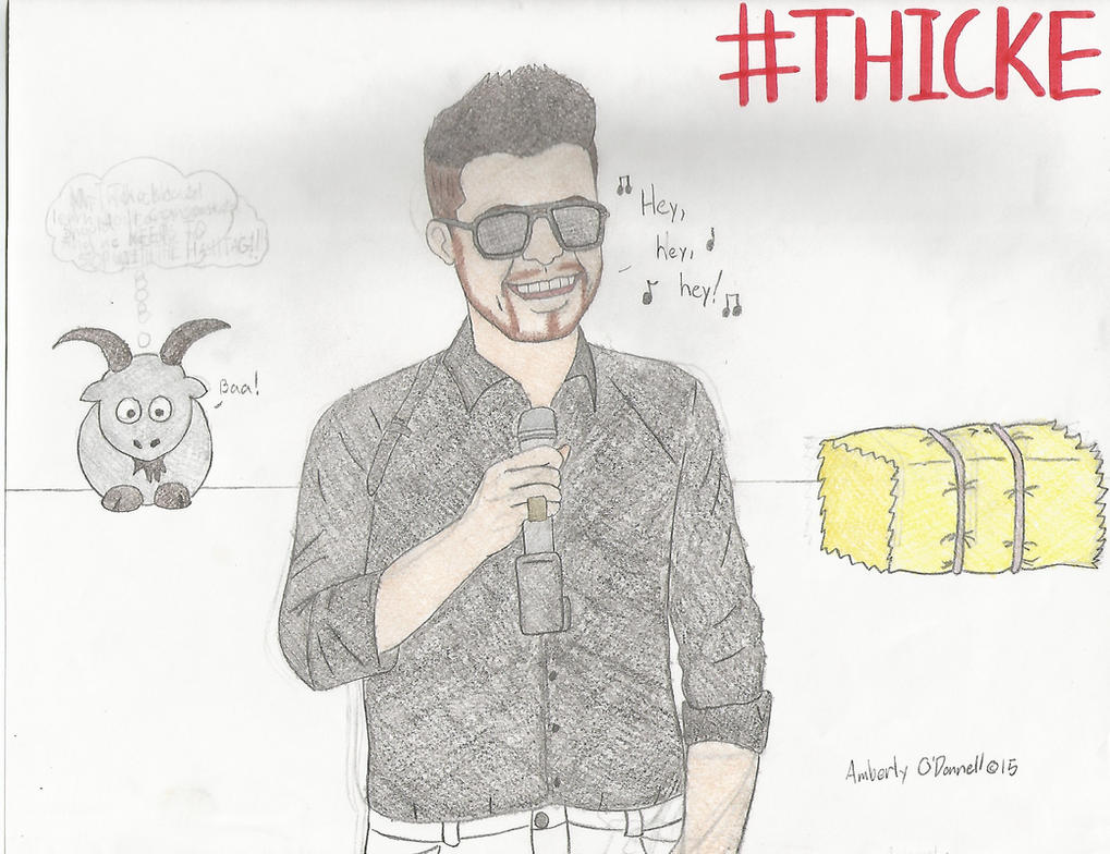 Drawing of Robin Thicke by LUVKitty13