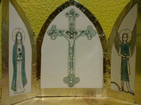 Christian-Catholic Triptich Oratory